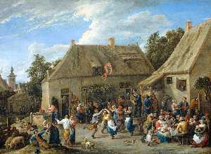David The Younger Teniers - Country Kermis