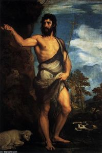 Tiziano Vecellio (Titian) - St John the Baptist in the Desert