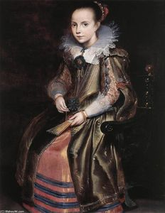 Cornelis De Vos - Elisabeth (or Cornelia) Vekemans as a Young Girl