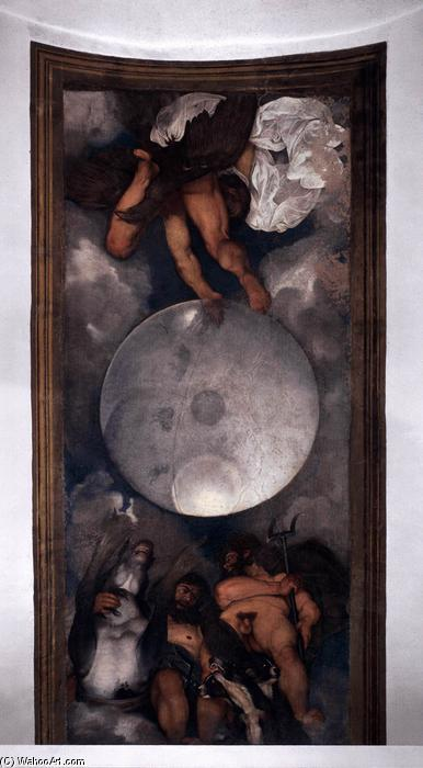 famous painting Jupiter, Neptune and Pluto of Caravaggio (Michelangelo Merisi)