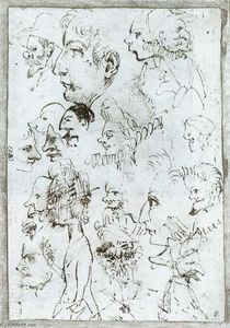 Annibale Carracci - Sheet of caricatures
