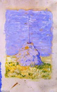 Franz Marc - Little Reed Stack near Brunnenbach