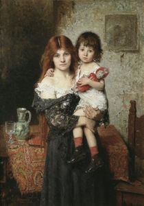 Alexei Alexeievich Harlamoff - Mother and Daughter