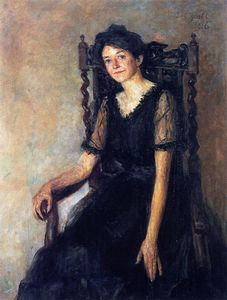 John Butler Yeats - Mrs. Mary Tower Lapsley Caughey seated