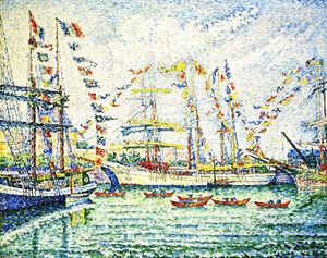 Paul Signac - Pardon of the NewFoundlanders, Saint-Malo