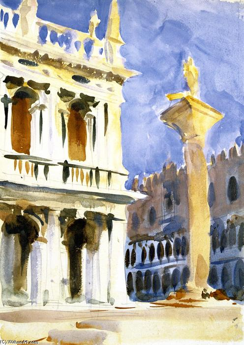 famous painting The Piazzetta, Venice of John Singer Sargent