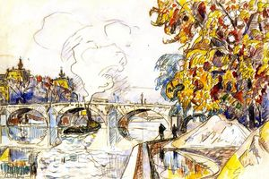 Paul Signac - The Pont Royal with the Gare d'Orsay, Paris
