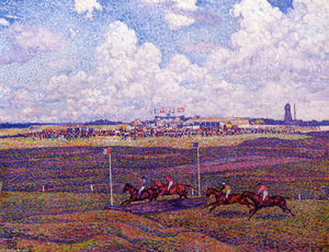 Theo Van Rysselberghe - The Race Track at Boulogne sur Mer