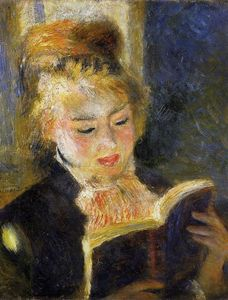 Pierre-Auguste Renoir - The Reader (also known as Young Woman Reading a Book)