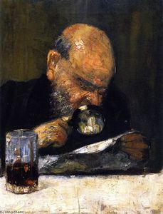 Lesser Ury - Reader with Magnifying Glass
