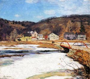 Willard Leroy Metcalf - The Red Bridge