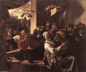 Jan Steen - The Rhetoricians - ''In liefde vrij''