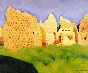 Felix Vallotton - Ruins at Souain, Sunset