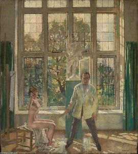 William Newenham Montague Orpen - Selfportrait with model (also known as Summer Afternoon)