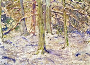 Franz Marc - Snow Covered Wood
