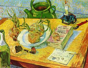 Vincent Van Gogh - Still Life: Drawing Board, Pipe, Onions and Sealing Wax