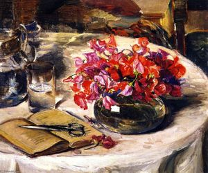 Joseph Kleitsch - Still LIfe with Sweet Peas