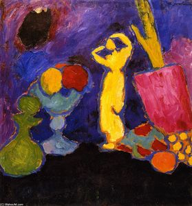 Alexej Georgewitsch Von Jawlensky - Still LIfe with Yellow Figure