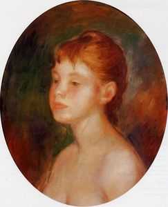 Pierre-Auguste Renoir - Study of a Young Girl (also known as Mademoiselle Murer)