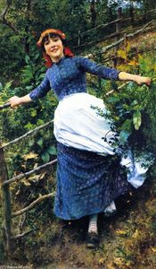 Daniel Ridgway Knight - Tending the Garden