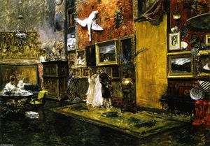 William Merritt Chase - The Tenth Street Studio (also known as Tenth Street Studio)