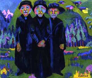 Ernst Ludwig Kirchner - The Three Old Women