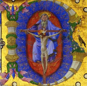 Taddeo Crivelli - Trinity, historiated initial B