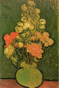 Vincent Van Gogh - Vase with Rose-Mallows