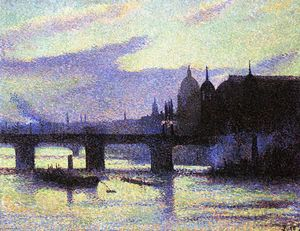 Maximilien Luce - View of London (Cannon Street)