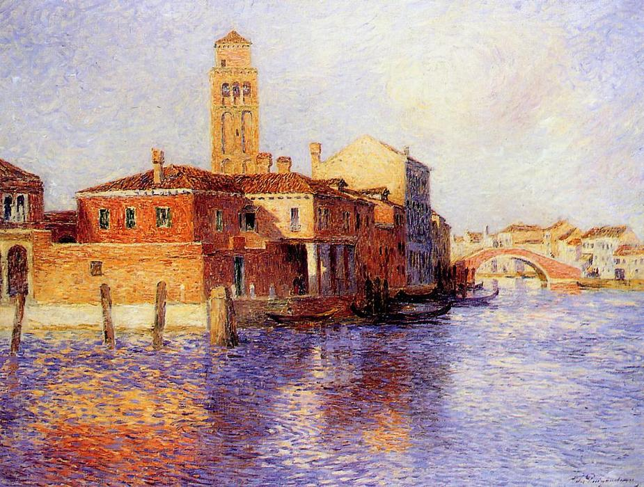 Buy Museum Art Reproductions Pop Art | View of Venice (also known as Murano) by Ferdinand Du Puigaudeau | BuyPopArt.com