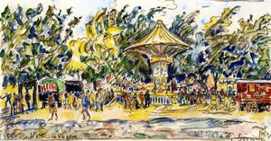 Paul Signac - Village Festival (La Vogue)