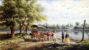 Edward Lamson Henry - Waiting for the Ferry
