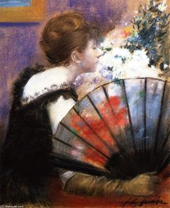 Jean Louis Forain - Woman with a Fan