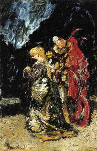 Adolphe Joseph Thomas Monticelli - Margaree, Faust and Mephisto