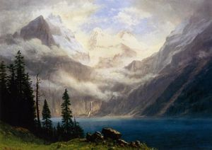 Albert Bierstadt - Mountain Scene