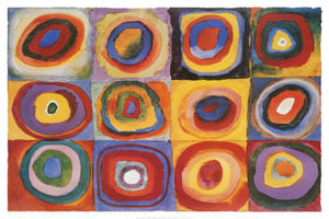 Wassily Kandinsky - Color Study of Squares and Circles