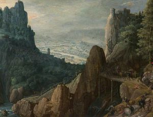 Tobias Verhaecht - Landscape With The Conversion Of Saint Paul