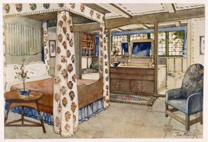 Tom Merry (William Mecham) - A Bedroom For A Country House In The Arts And Crafts