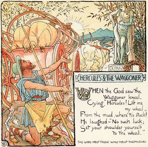 Walter Crane - Hercules And The Waggoner