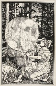 Walter Crane - Out Came A Dome Of Glass Like A Soap-bubble