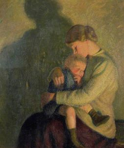 William Rothenstein - Mother And Child, Candlelight