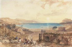 James Duffield Harding - The Bay Of Baia, Naples