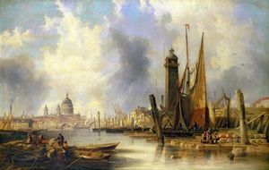 John Wilson Carmichael - View Of London With St. Paul's