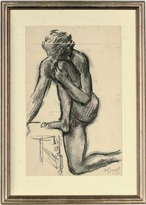 Duncan Grant - Paul Roche; And Two Unframed Nude Studies By The Same Hand