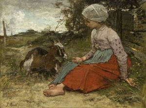 Jacob Henricus Maris - The Pet Goat