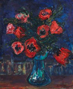 William Mactaggart - Poppies Against A Night Sky