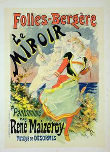 Jules Cheret - Reproduction Of A Poster Advertising 'the Mirror'