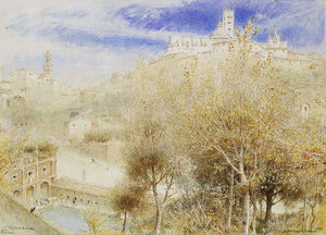 Albert Goodwin - The Fonte Branda, Siena