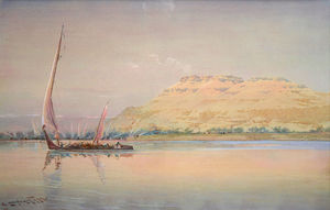Augustus Osborne Lamplough - Dawn At Luxor