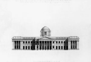 Benjamin Dean Wyatt - Elevation Of Principal Front Of A House,